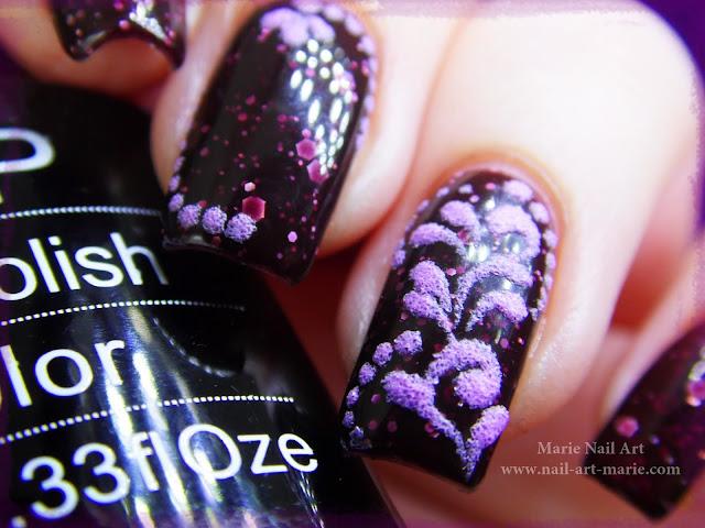 nail art thermique et sable de velours3