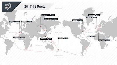Parcours de la Volvo Ocean Race 2017