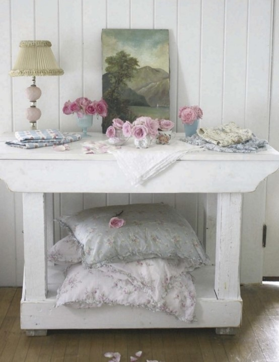 Cool shabby chic style romantic home decor cheap but for Cheap chic home decor