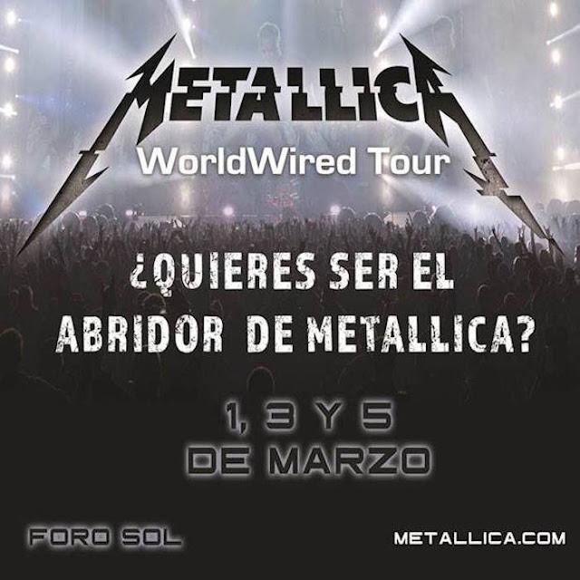 Metallica pide que le abran conciertos; El Komander se apunta