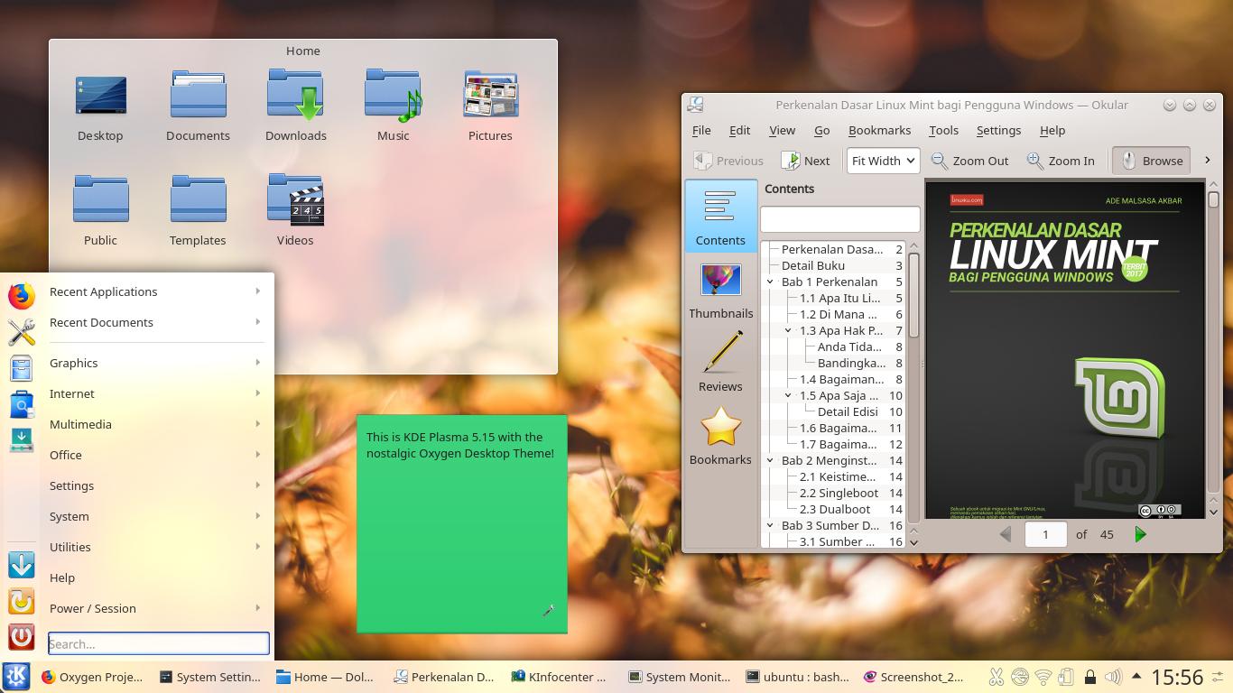 Bring Back KDE 4 Oxygen Theme to KDE Plasma 5