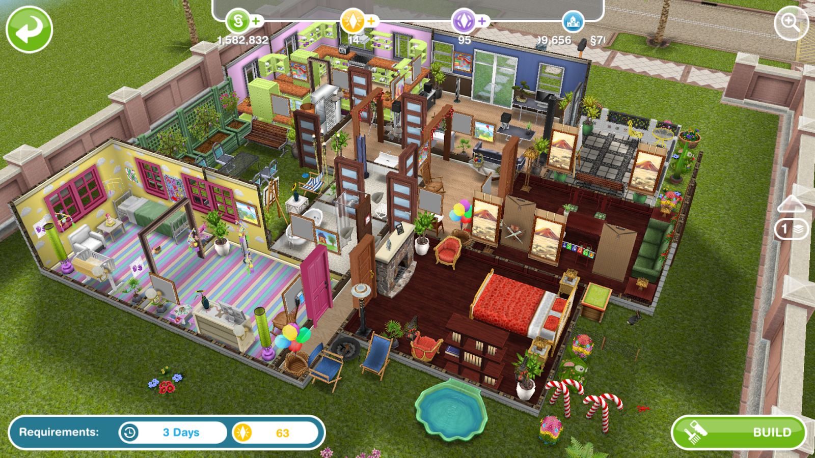 Sims freeplay architect homes easter edition greenoid gemzicle - Sims freeplay designer home ...