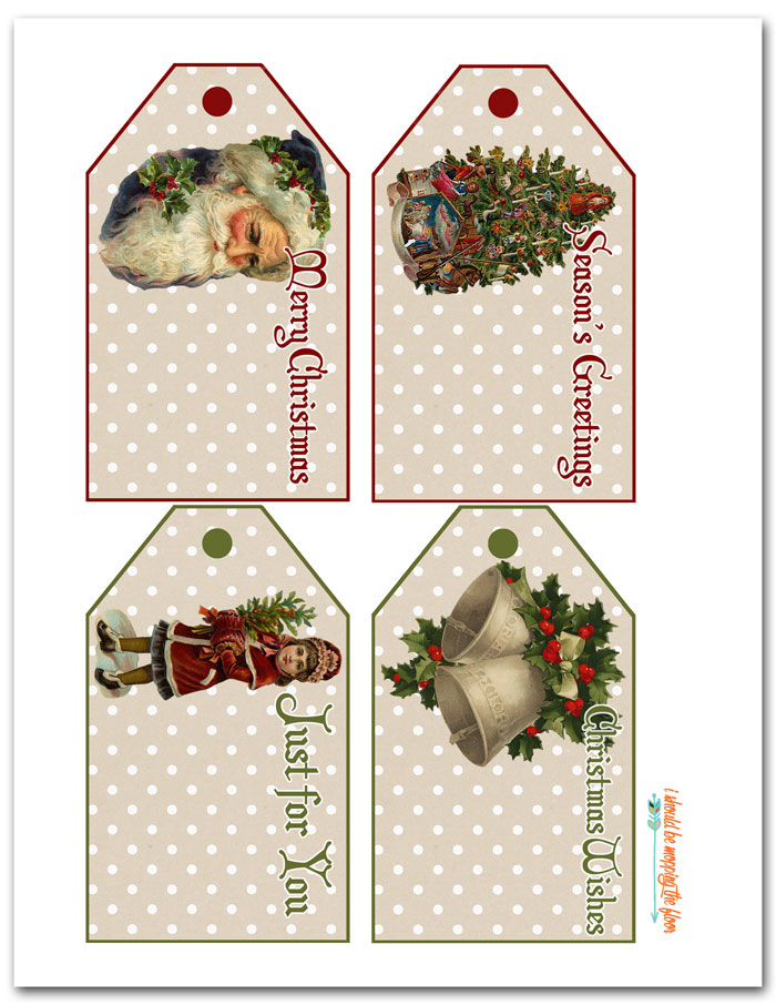 photo relating to Free Printable Vintage Images called Totally free Printable Common Xmas Tags i need to be mopping