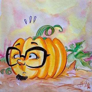 Caricature citrouille ©Guillaume Néel