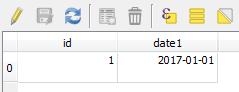 date format américain - shp - dbf