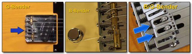 Diferentes Sistemas B-Bender Guitarra