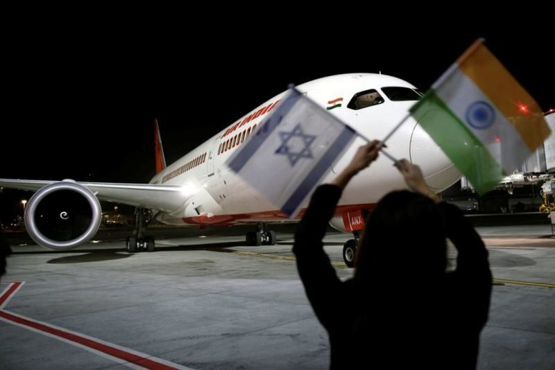 Air India makes history by flying to Israel