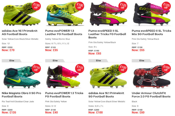 super popular abf02 bcc17 130 GBP Off - Nike Mercurial, Magista Obra II and Puma evoPOWER From 35 GBP    Here Is The Likely Best Ever Football Boot Sale
