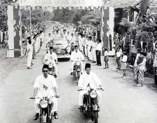 Sambutan kemerdekaan di bandar hilir Melaka