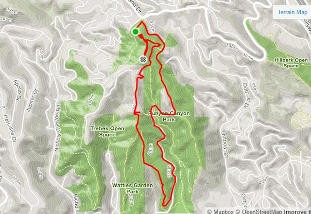 Runyon Canyon route