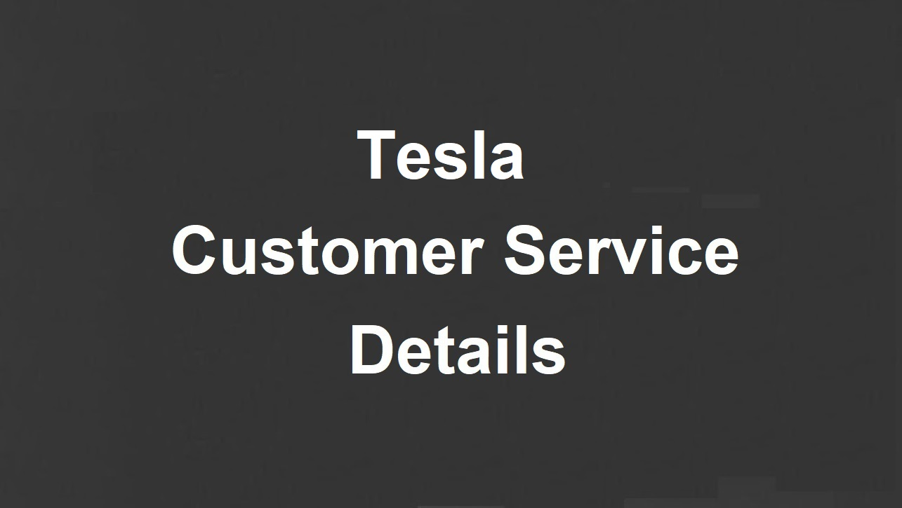 Tesla Customer Service Number