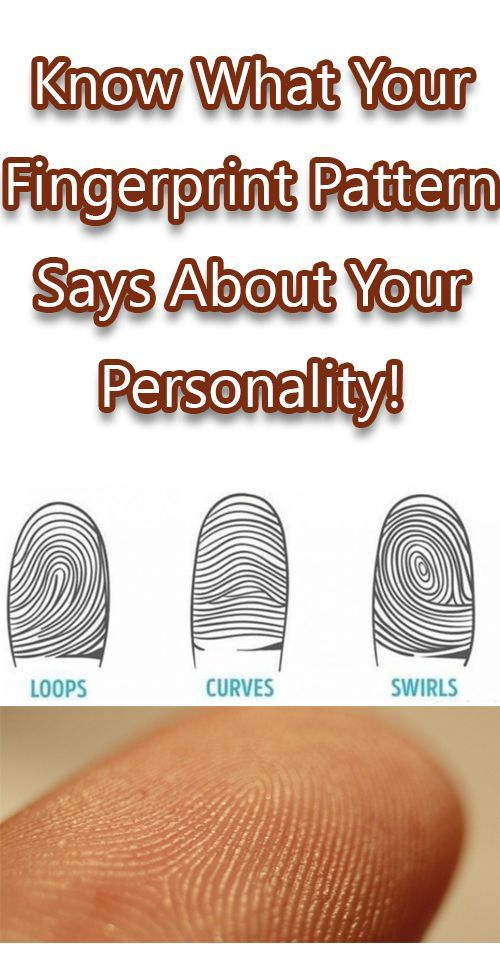 KNOW WHAT YOUR FINGERPRINT PATTERN SAYS ABOUT YOUR PERSONALITY!