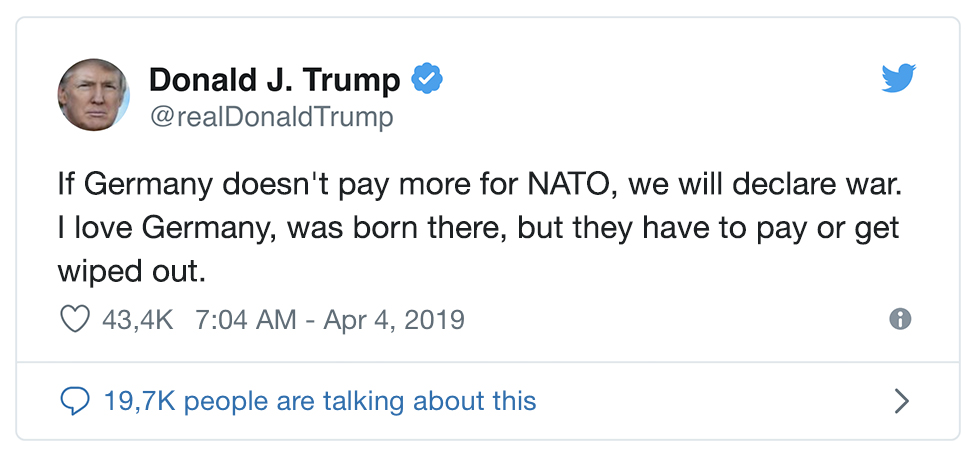 Trump Droht Mit Krieg