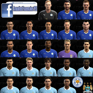 Facepack Leicester City + Manchester City 2016 Pes 2013