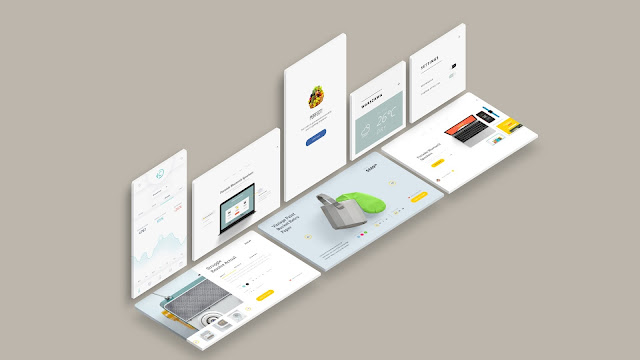 Free Web and App UI Screen Mockup PowerPoint Templates Slide 8