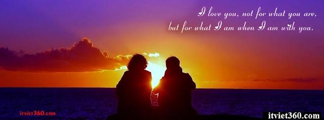 Ảnh bìa lãng mạn cho Facebook - Cover FB romantic timeline, hoàng hôn trên biển