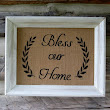 Framed Burlap BLESS OUR HOME Sign