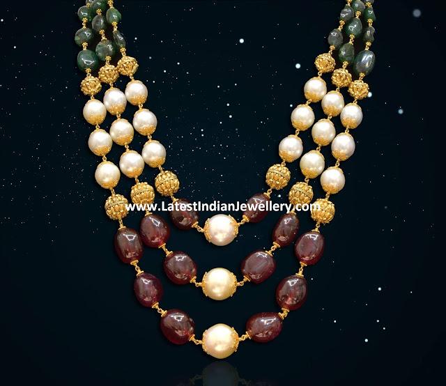 Tri Color Beads Mala