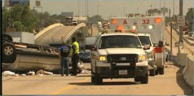 Minivan tire blowout on Eastex Freeway causes fatal rollover