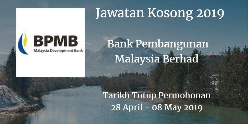 Jawatan Kosong BPMB 28 April - 08 May 2019