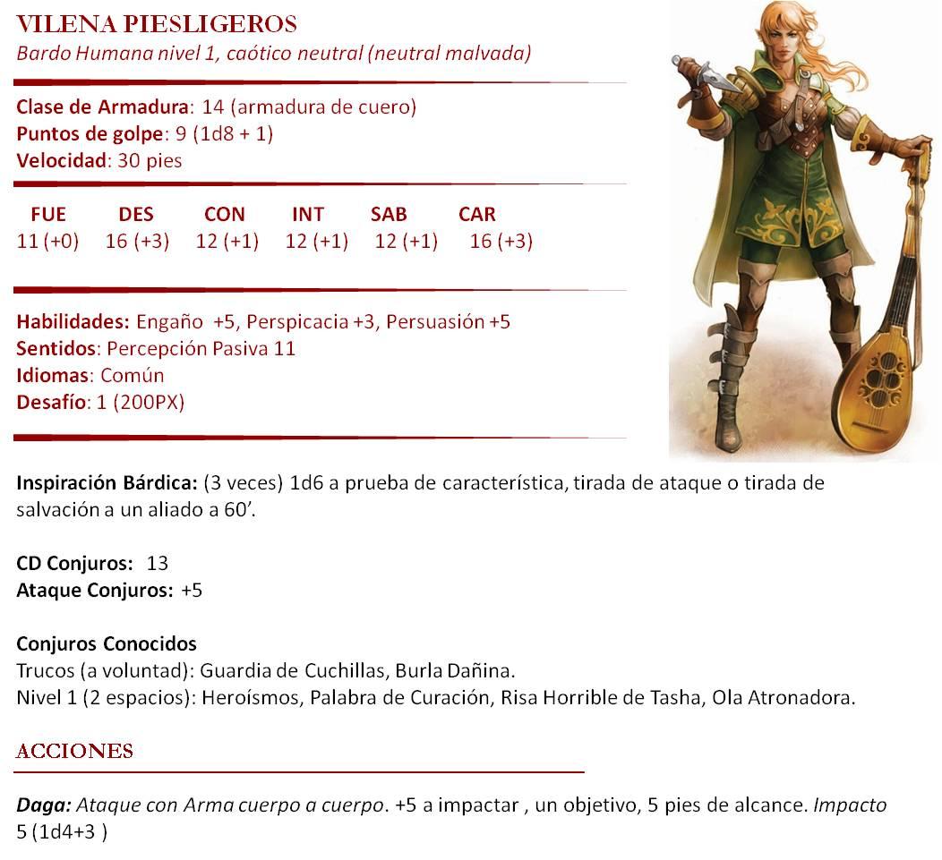 Aventura de nivel 1 para Dungeons & Dragons - Ladrones de Sueños - Vilena Piesligeros