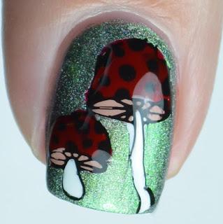 mushroom nail art