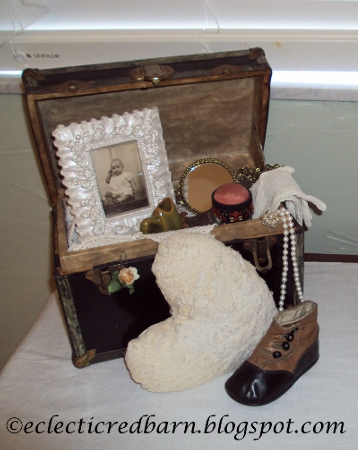 Eclectic Red Barn: Vintage Doll Box with Accessories