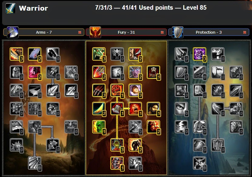Wow Best Pvp Pve Talent Leveling Guide Pvp Fury Warrior Talent Glyphs Guide Wow Cataclysm 4 3 4