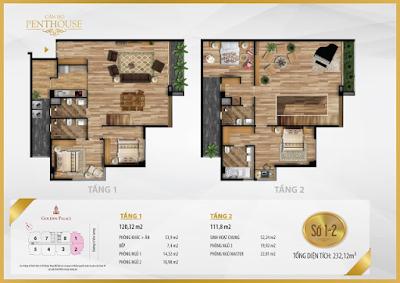 Thiết kế căn hộ Penthouse số 1-2