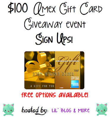 Blogger Opp - $100 AMEX Gift Card Giveaway Event Sign Ups