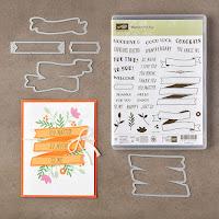Stampin Up Framelits Bunter Banner-Mix und Stempelset Bannereien im Paket 10% günstiger