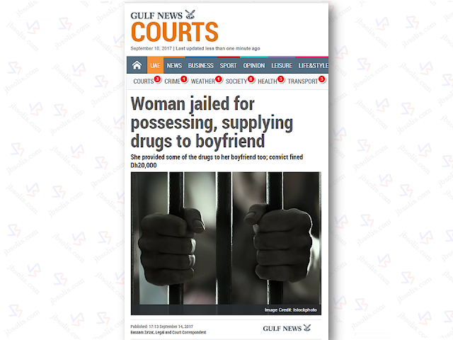 A Filipina in the UAE has been arrested for supplying prohibited drugs to her boyfriend and has been convicted to be jailed for five years and pay AED 20,000. After serving her jail term, the 29 -year-old Filipina will be deported According to Gulf News' Bassam Za'za, legal and court correspondent report, the Dubai Court of First Instance found the 29-year-old jobless Filipina guilty of possessing 0.8 gram of methamphetamine, consuming amphetamine and methamphetamine, and enabling her boyfriend to use illegal drugs. The Filipina and her boyfriend was arrested on May at the former's flat by Dubai authorities, recovered small quantities of methamphetamine hidden on a case of eyewear. The Filipina admitted the crime when she appeared befor the court on august 15 while her boyfriend is still undergoing trial before the Dubai misdemeanor court. Sponsored Links The alarming cases of Filipinos involved in illegal drugs in the UAE are being closely monitored by the Philippine Embassy. From 2015 to 2016 the number of Filipinos convicted and imprisoned in the UAE s significantly on the rise. Out of the total 146 inmates currently detained at Dubai Central Jail, 66 were convicted for drug-related crimes and are serving life sentences, 12 of which are women. In Sharjah, there are 8 Filipinos in jail for drug offenses. Most of the Filipinos who were convicted said that the lure of big cash pushed them to drug dealings. Advertisement Read More: ©2017 THOUGHTSKOTO