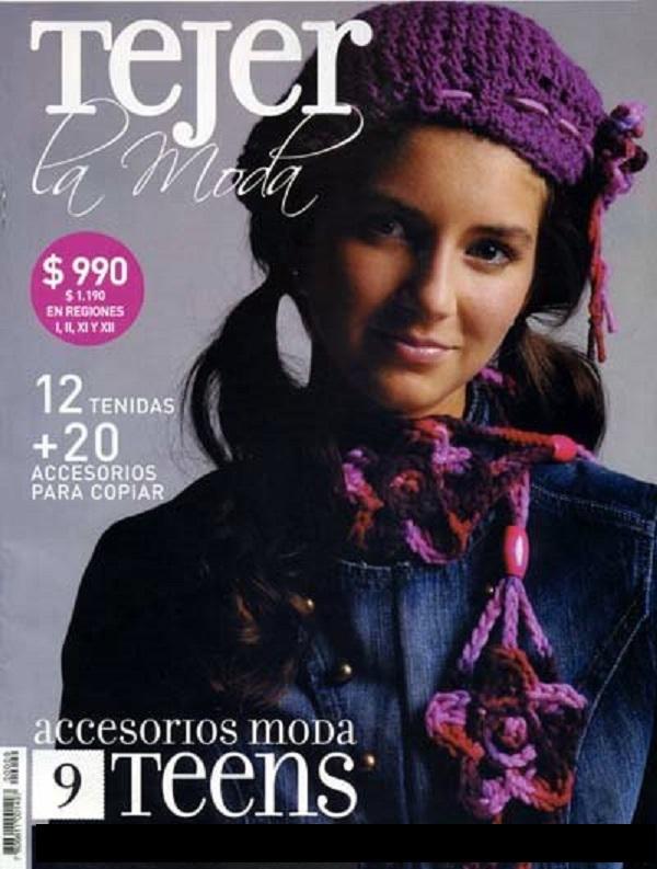 Tejer La Moda-Revista Tricô e Crochê-Moda adolescente