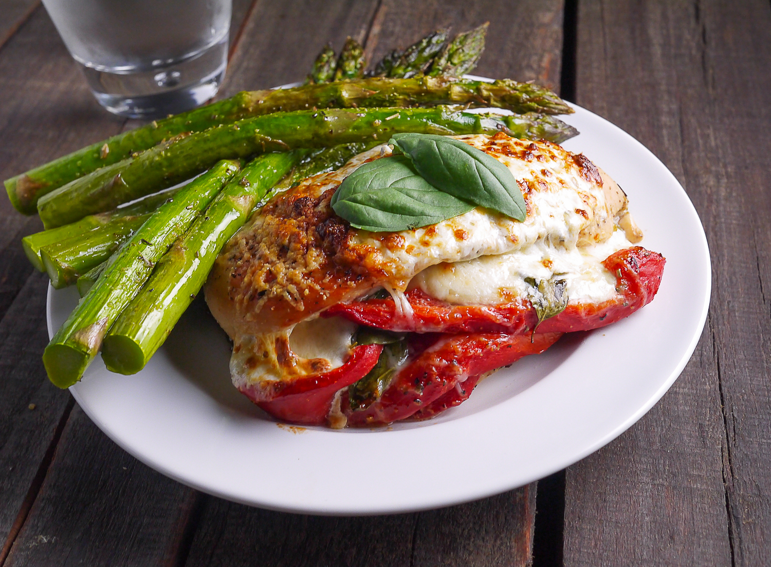 Image result for Roasted Red Pepper and Broccoli Stuffed Chicken