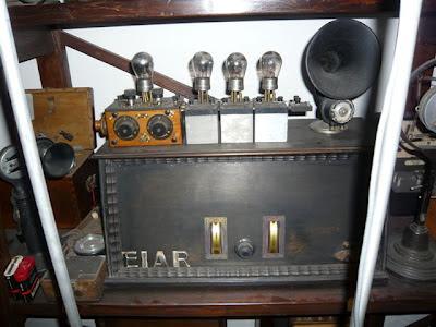 Radioricevitore Ramazzotti, usato nella stazione emittente della EIAR, anno 1928