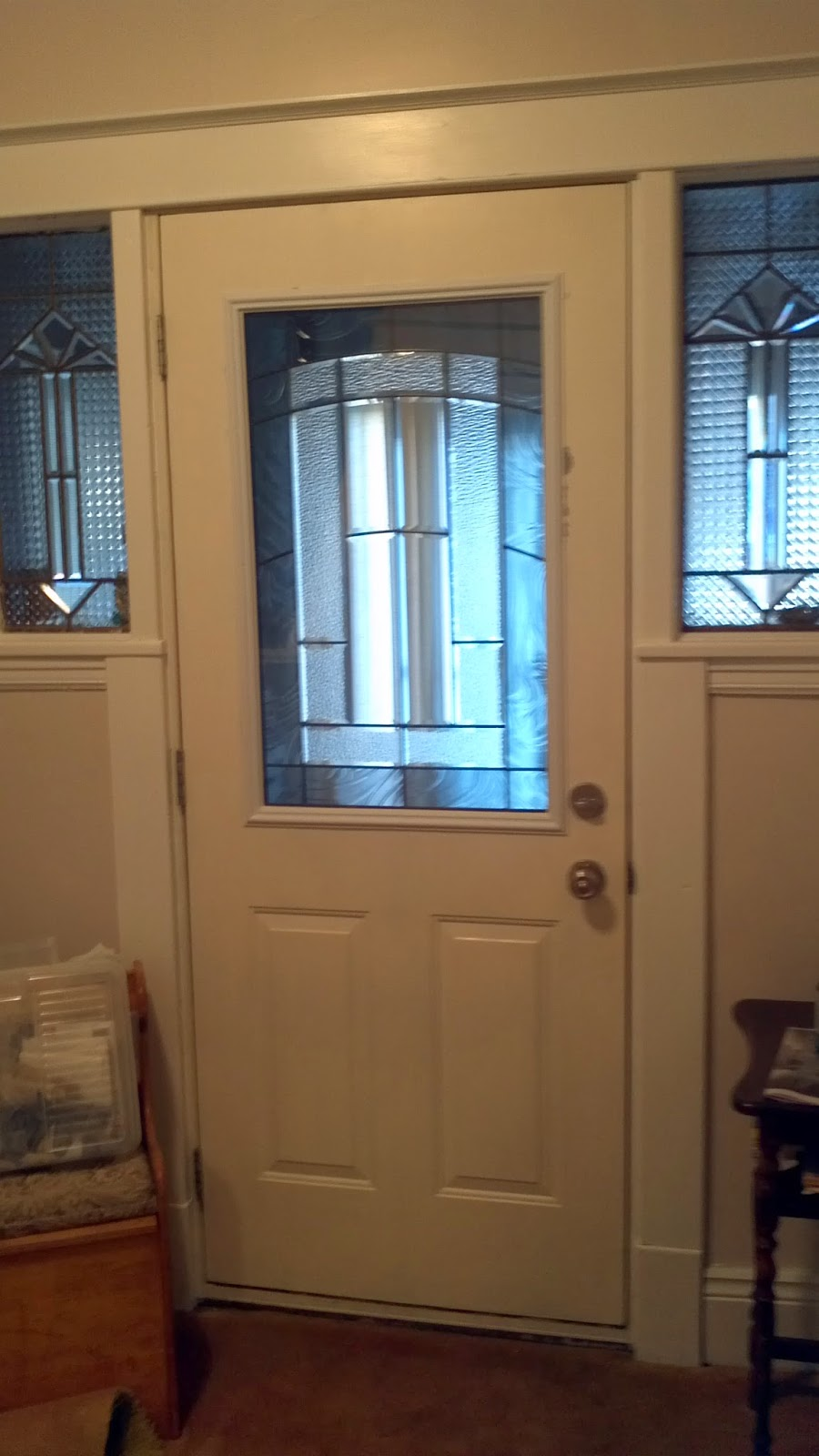 A Board and Beyond Home Improvements: Front Door Stained