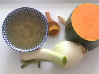 Ingredientes puré de calabaza