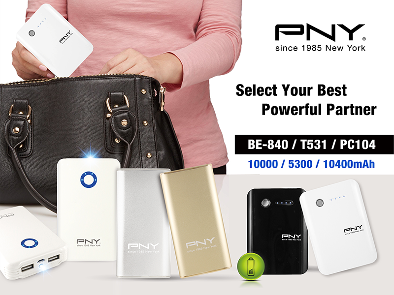 PNY BE-840, T531, and PC104 powerbanks Philippines