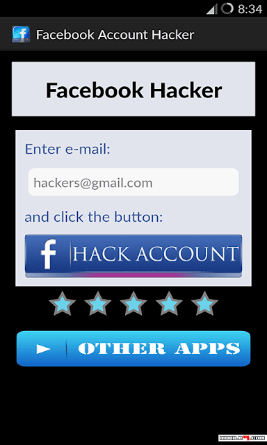 تطبيق Facebook Password Hacker