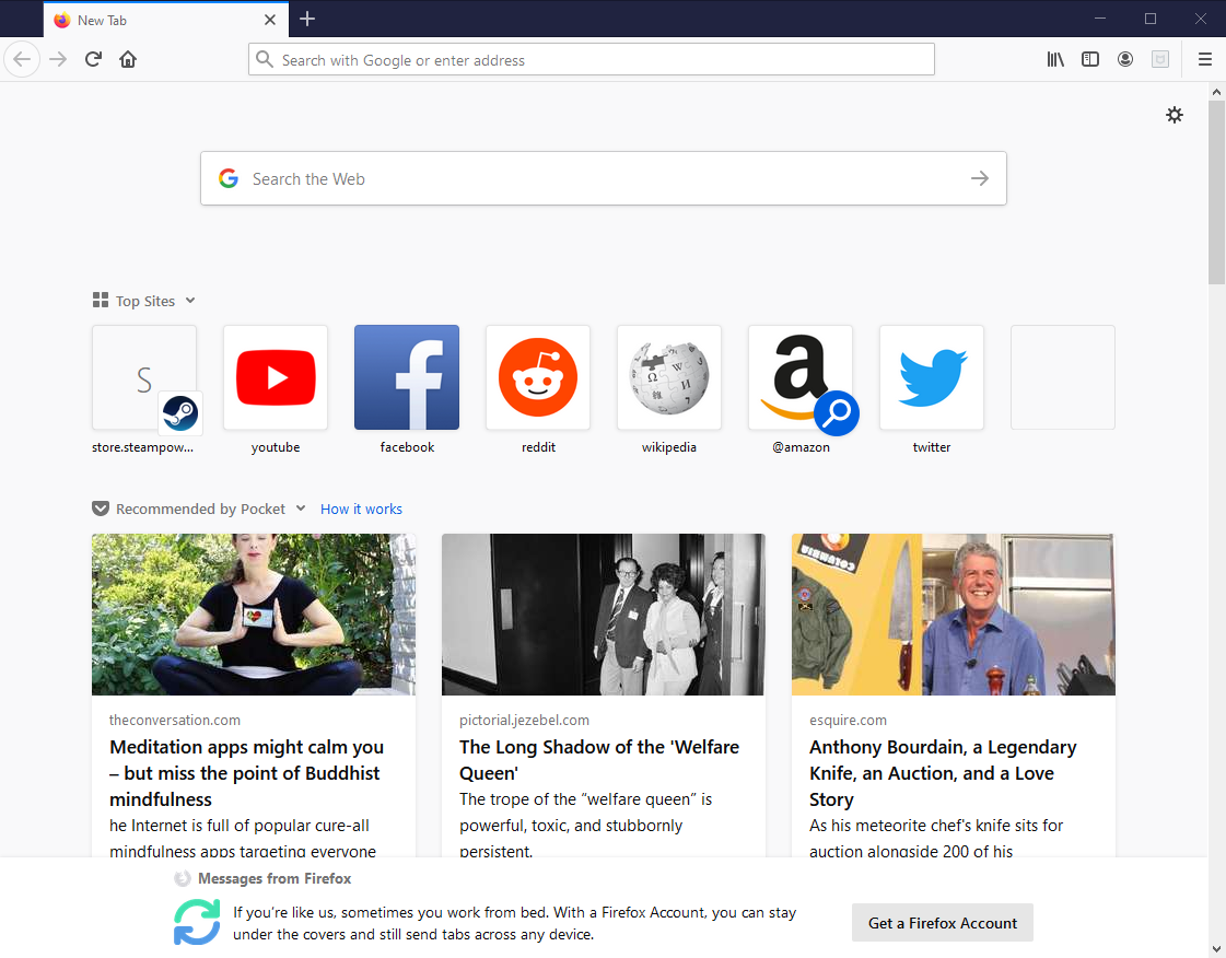Mozilla Firefox Browser 72.0