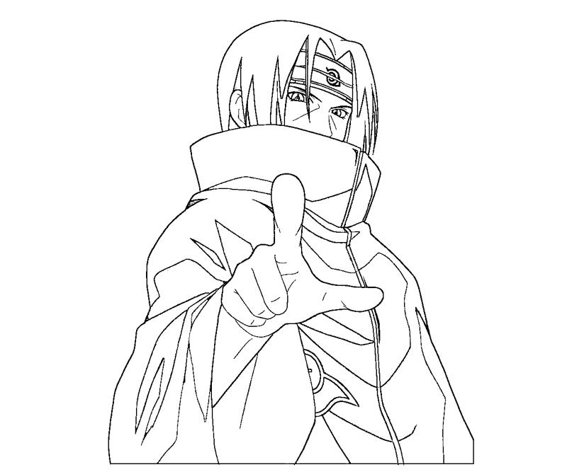Itachi Uchiha 11 Coloring Crafty Teenager