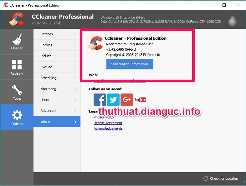 Download CCleaner v5.42.6495 Full Key miễn phí mới nhất