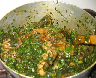 Pot of afang soup