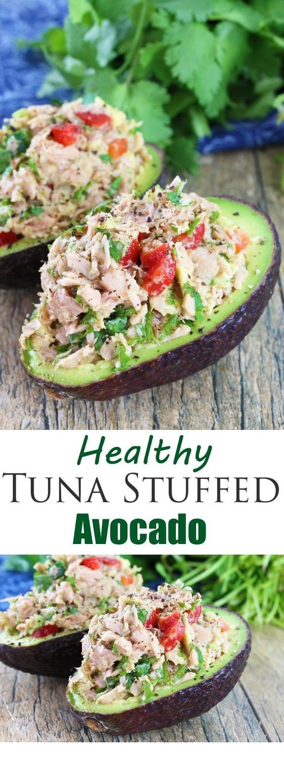 Healthy Tuna Stuffed Avocado