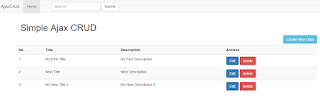 Laravel 5 Crud Tutorial using Ajax & Bootstrap Template in Laravel 5.3