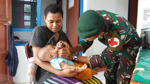 Satgas Yonif 755 Kostrad Peringati Hari Kesehatan Dunia Bersama Masyarakat Papua