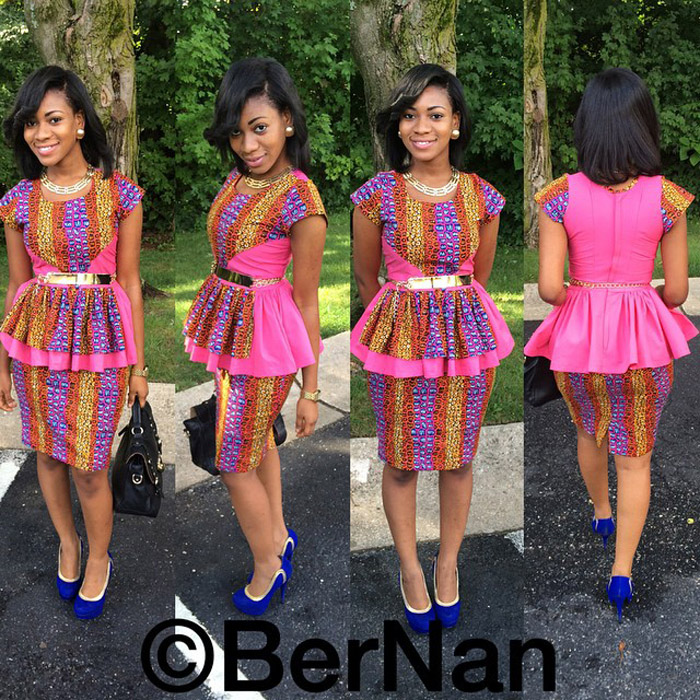 plain and pattern ankara gown (7)