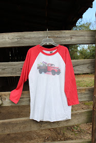 vintage t shirt with truck and flowers