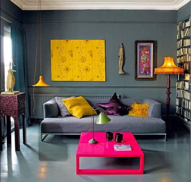Resultado de imagem para decoração de moveis com cores fortes