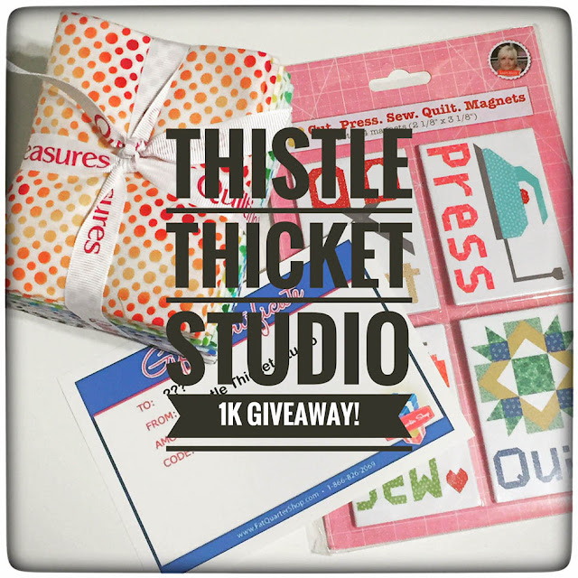 Thistle Thicket Studio, 1K followers, 1000 followers, Instagram followers, 1K giveaway, quilts, quilting